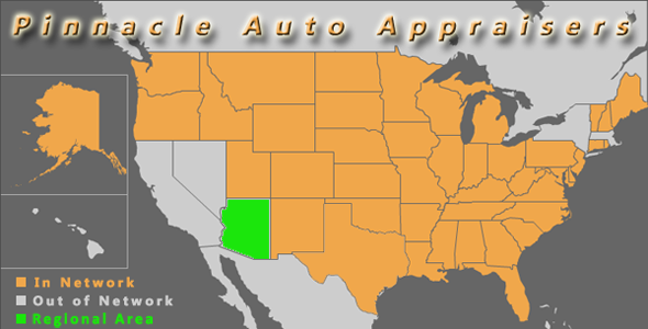 map arizona pinnacle auto appraiser appraisal diminished value